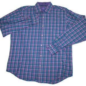 Bugatchi Uomo Mens Long Sleeve Button Front Flip C